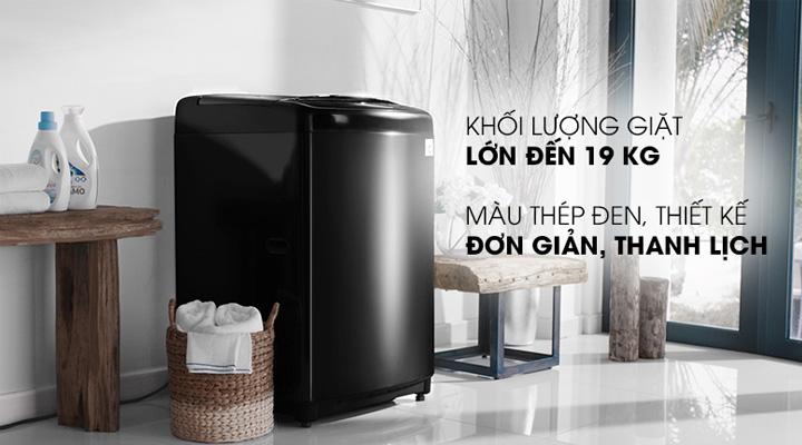Máy giặt LG Inverter TH2519SSAK có khối lượng giặt đến 19 kg