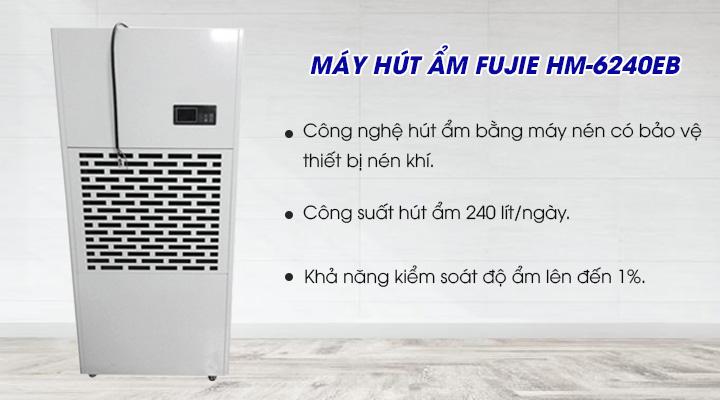 Máy hút ẩm Fujie HM-6240EB trâng bị công nghệ hút ẩm hiện đại