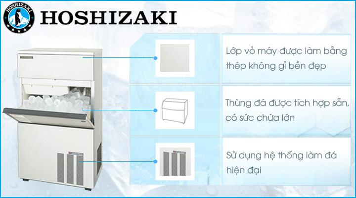 Máy làm đá viên Hoshizaki LM-350M có thiết kế bền đẹp và hiện đại