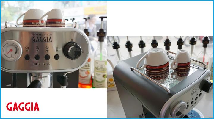 Máy pha cà phê Gaggia Carezza Deluxe có thiết kế tiện lợi, dễ sử dụng