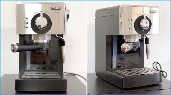 Máy pha cà phê Gaggia Viva Deluxe có thiết kế nhỏ gọn, sang trọng và hiện đại