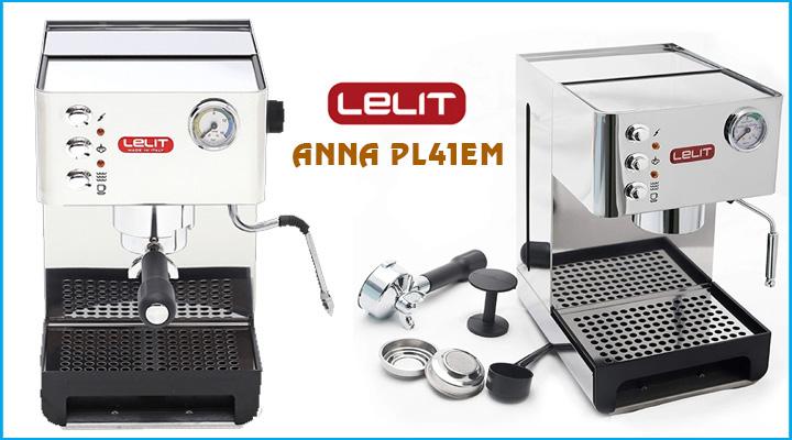 Máy pha cà phê Lelit Anna PL41EM có cấu tạo bằng thép không gỉ bền đẹp