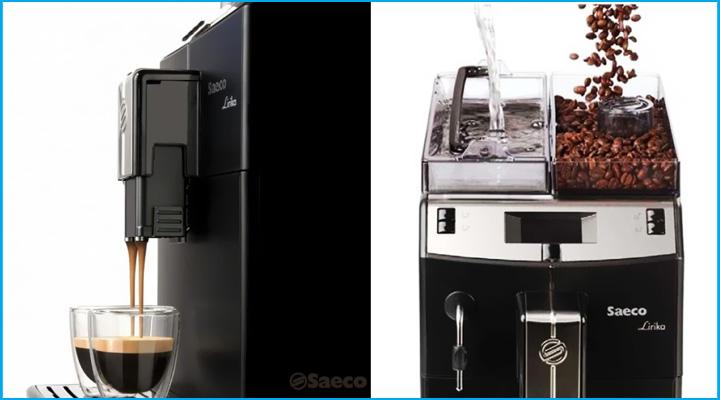 Máy pha cà phê Saeco Lirika Basic trang bị công nghệ pha và xay hiện đại
