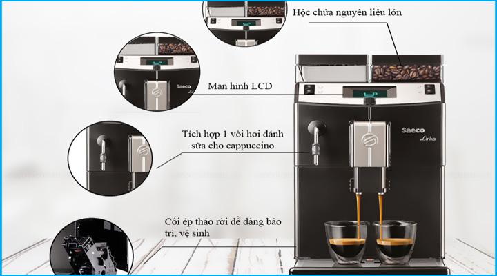Máy pha cà phê Saeco Lirika Basic thiết kế tiện lợi