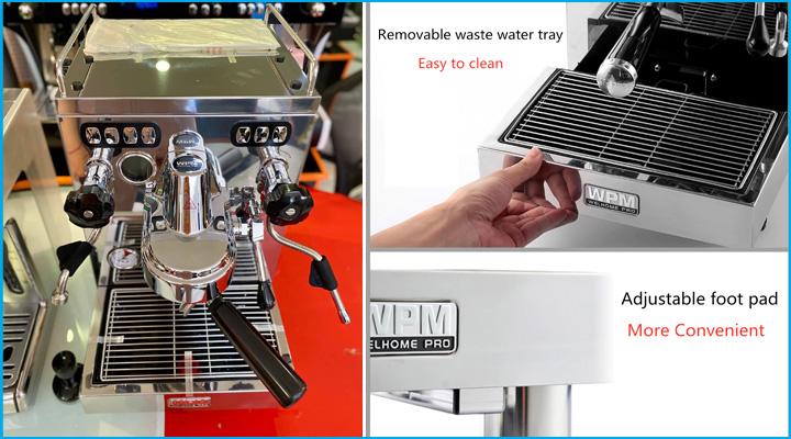 Máy pha cà phê WPM KD320 có thiết kế bền đẹp, hiện đại