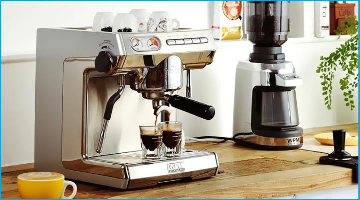 Máy pha cà phê WPM WELHOME KD270S được thiết kế nhỏ gọn, sang trọng