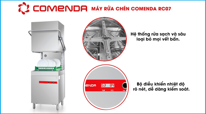 Máy rửa ly chén Comenda RC07