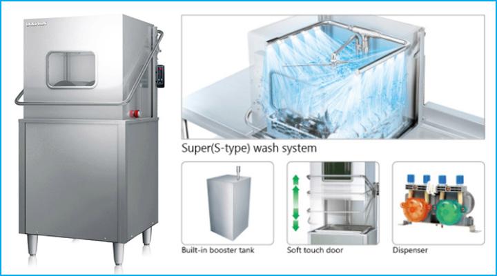Máy rửa chén cửa nâng DW-3210S có tính năng rửa hiện đại