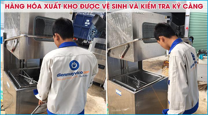 Vệ sinh và kiểm tra máy rửa chén kỹ càng trước khi xuất kho cho thuê