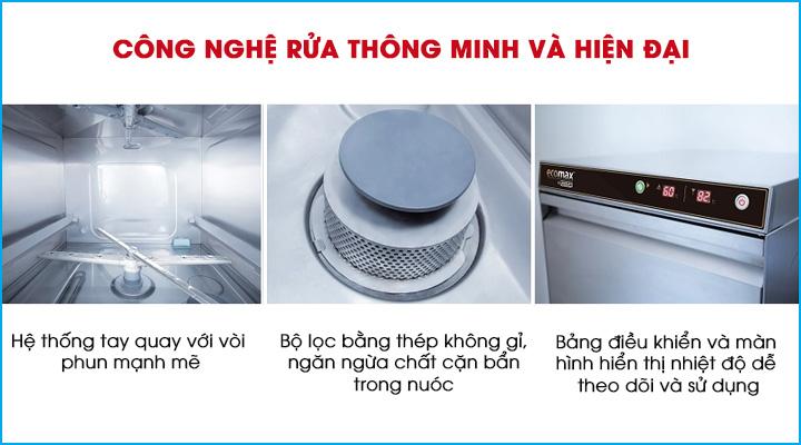 Công nghệ rửa thông minh và hiện đại của dòng máy rửa ly chén Hobart