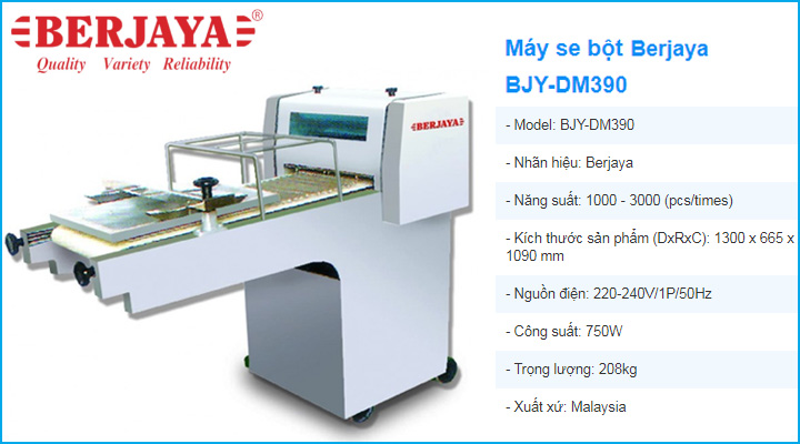 Máy se bột Berjaya BJY-DM390