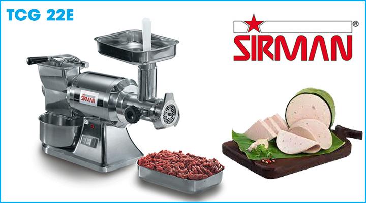 Máy xay thịt công nghiệp Sirman TCG 22E