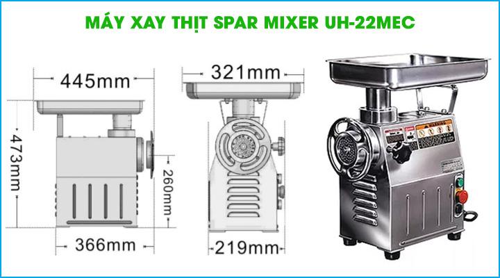 Máy xay thịt công nghiệp Spar Mixer UH-22MEC