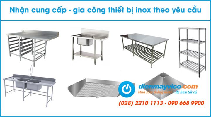 Nhận gia công inox theo yêu cầu cho dòng máy rửa ly chén