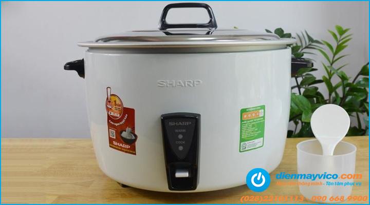 nồi nấu cơm công nghiệp Sharp có chất lượng tốt, đa dạng dung tích