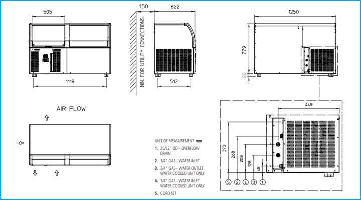 Sơ đồ chi tiết về máy làm đá viên ACM 206 AS