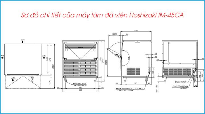 Sơ đồ chi tiết của máy làm đá viên Hoshizaki IM-45CA