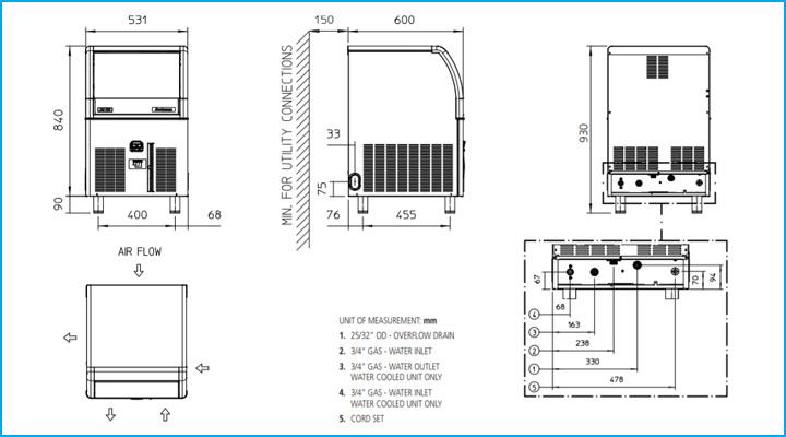 So đồ chi tiết của máy làm đá viên Scotsman ACM 106 AS