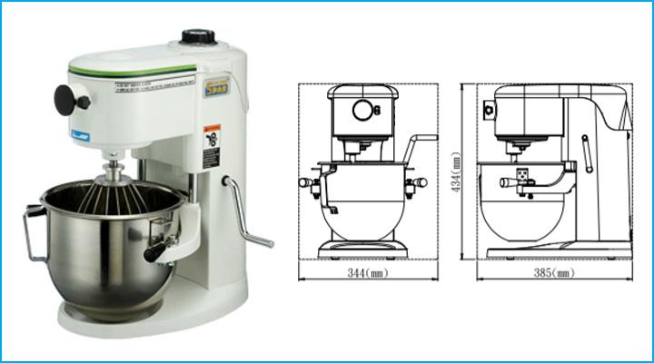 Sơ đồ chi tiết của máy trộn bột Spar Mixer SP-500