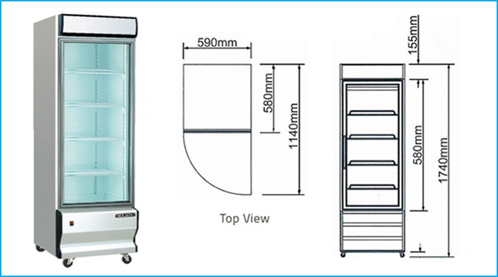Sơ đồ chi tiết của tủ mát Berjaya 1D/MDC-SM