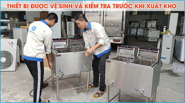 Thiết bị bếp cho thuê được kiểm tra và vệ sinh kỹ càng trước khi xuất kho