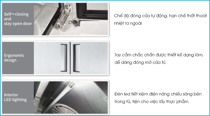 Thiết kế bàn đông Turbo Air KUF9-1 tiện lợi và dễ sử dụng