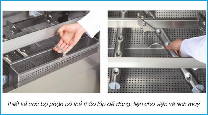 Thiết kế các bộ phận có thể tháo lắp dễ dàng tiện cho việc sử dụng và vệ sinh máy