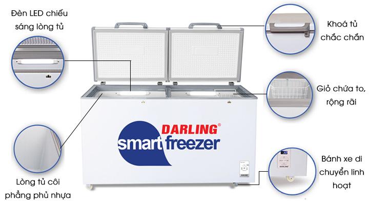 Thiết kế hiện đại và tiện lợi của tủ đông mát Darling DMF-4699WS-4
