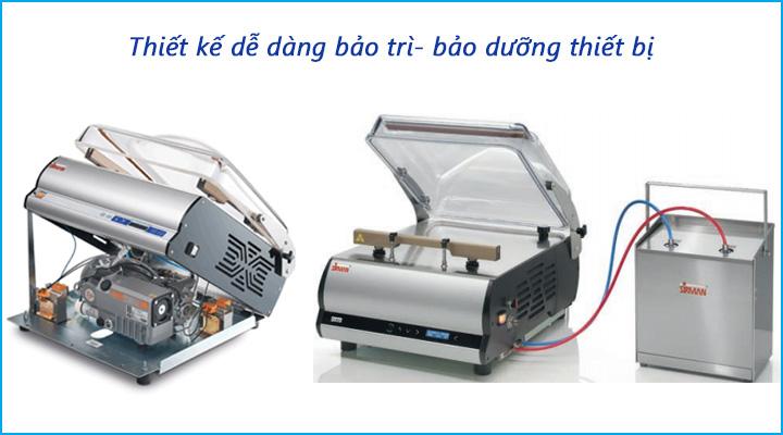 Máy có thiết kế dễ dàng bảo trì - bảo dưỡng thiết bị