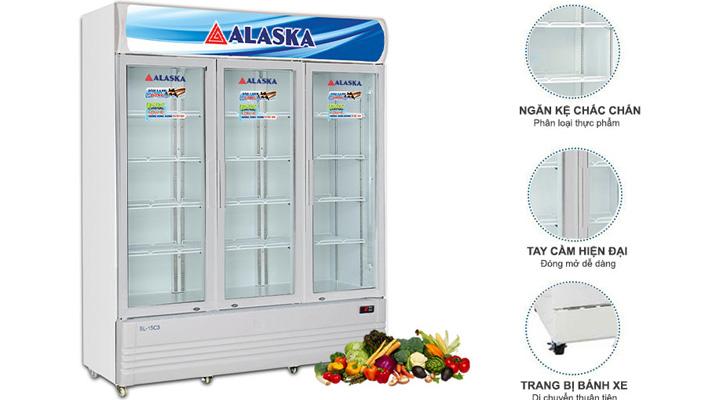 Tủ mát Alaska SL-15C3 có thiết kế tiện lợi, sang trọng và đẹp mắt