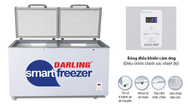 Thiết kế hiện đại, đẹp mắt và tiện lợi của tủ đông mát Darling DMF-4699WS-2