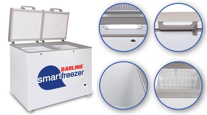 Thiết kế tủ đông mát Darling DMF-2699WS có nhiều sự tiện lợi