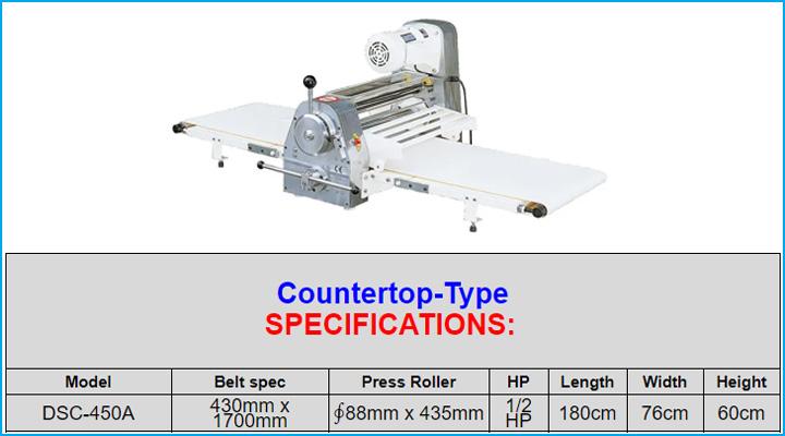 Thông sỗ kỹ thuật của máy cán bột Jendah DSC-450A