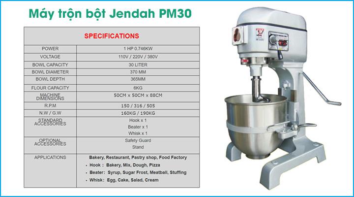Tổng quan về máy trộn bột Jendah PM30