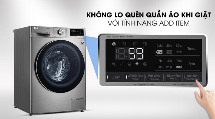 Tính năng Add Item của máy giặt FV1450S3V giúp dễ dàng thêm quần áo khi đang giặt
