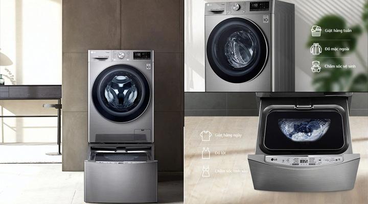 Máy giặt FV1450S3V có tính năng tương thích cao khi thể kết hợp thêm máy giặt TWINWash Mini
