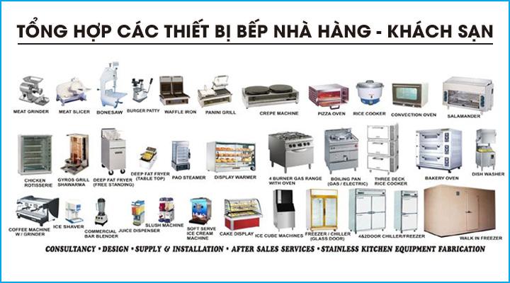 Tổng quan về các thiết bị bếp nhà hàng - khách sạn