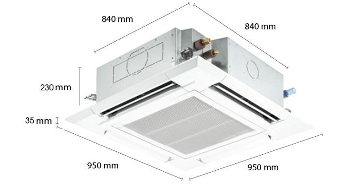 Mẫu máy lạnh cassette âm trần Reetech RGT24/RC24