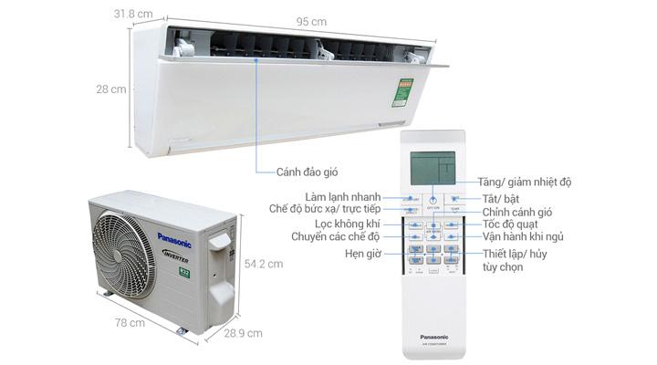Tổng quan về máy lạnh trwo tường Panasonic CU/CS-VU12SKH-8