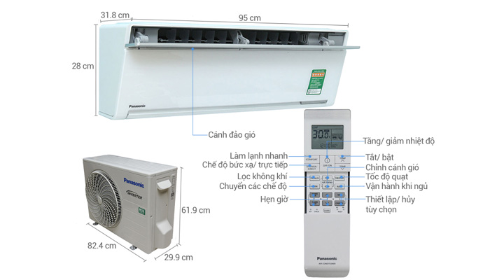 Tổng quan máy lạnh treo tường Panasonic CU/CS-VUSHK-8