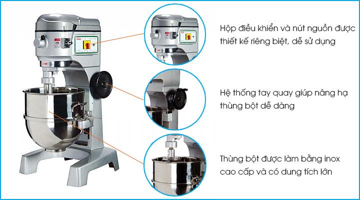 Tổng quan máy trộn bột Tinso TS-60