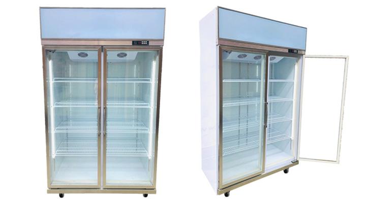 Tổng quan tủ mát 2 cánh kính Snow Village (quạt lạnh)