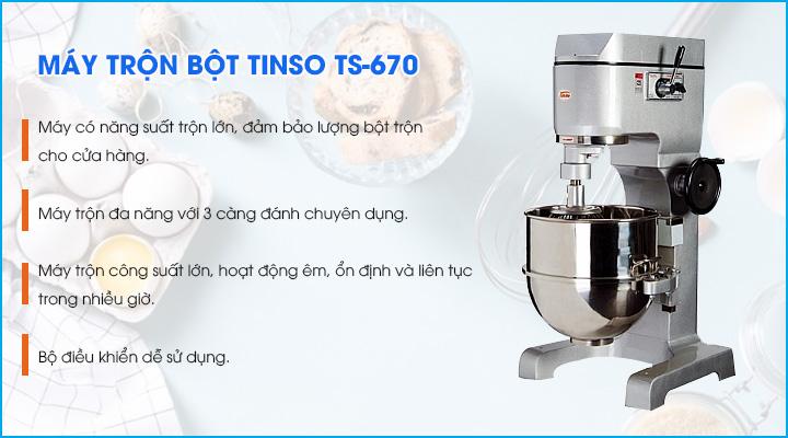 Tổng quan về máy trộn bột Tinso TS-670