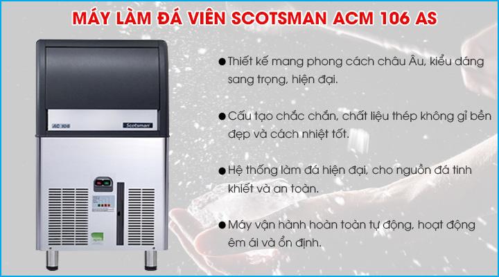 Tổng quan máy làm đá viên Scotsman ACM 106 AS