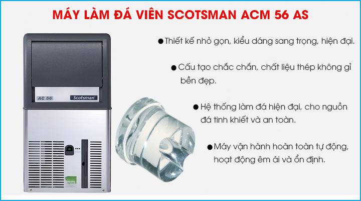 Tổng quan về máy làm đá viên Scotsman ACM 56 AS