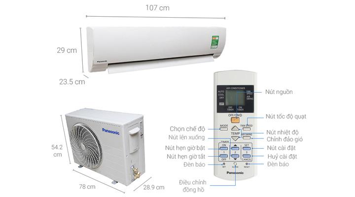 Mẫu máy lạnh treo tường Panasonic CU/CS-KC18QKH-8 (2.0 Hp)