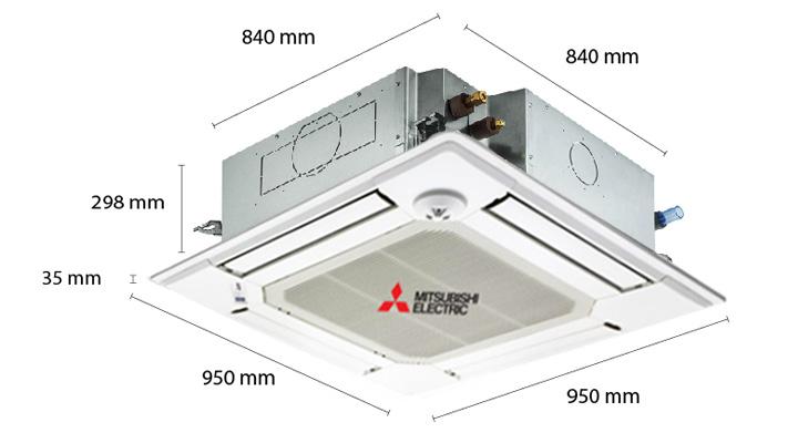 Mẫu máy lạnh âm trần Mitsubishi Electric PL-3BAKLCM
