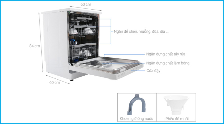 Tổng quan về máy rửa ly chén để quầy Candy CDP 2DS62W