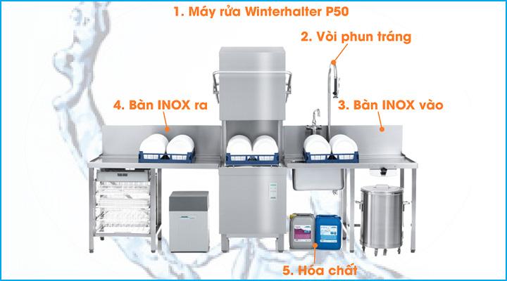 Mẫu máy rửa chén Winterhalter P50
