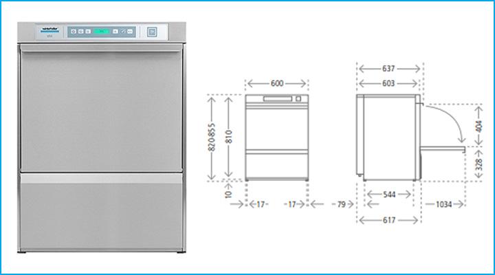 Tổng quan về máy rửa chén Winterhalter U50
